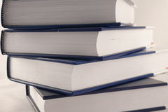 Encyclopaedia. Four books isolated over white Stock Photography