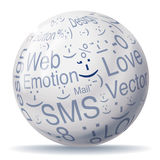 Encyclopedia ball with smileys Royalty Free Stock Photos