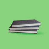 Encyclopedia Book with Green Background Stock Photos