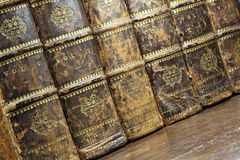Encyclopedia. Books from the early 19th century stock photos