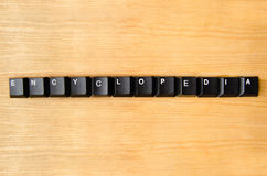 Encyclopedia word. With keyboard buttons royalty free stock images