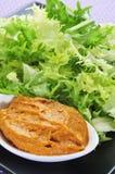 Endívia com molho do romesco, uma salada típica da escarola de Catalon Fotografia de Stock