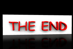 The End Stock Photography