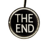 The End. The words THE END spelled out on an old typewriter key. Lots of dust and scratches royalty free stock photos