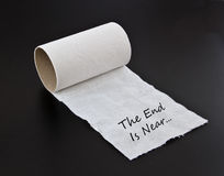 The end. Toilet paper int the end Stock Photos