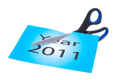 End of 2011 is approaching Stock Photo