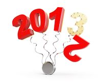 End of 2012 new year 2013. On a white background Stock Photography