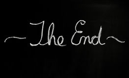 The end royalty free stock photos