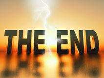 The end Royalty Free Stock Image