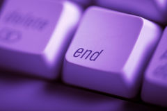 End. Purple end key form computer keyboard Stock Photography