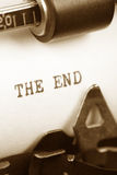 The end Stock Image
