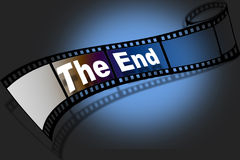 The End. Film depicting the end Royalty Free Stock Image