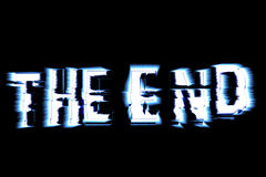 The End. Illustration made with Adobe Photoshop vector illustration