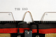 The End Royalty Free Stock Photography