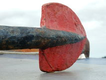 End of anchor on a boat Royalty Free Stock Image