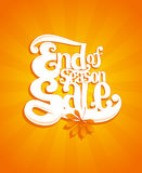 End of autumn season sale typographic illustration Stock Photos