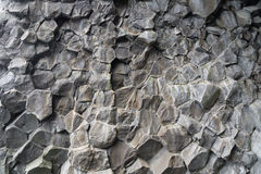 The end of basalt coloumns, Iceland Stock Photo
