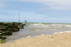 The end of the beach. Beach of Deauville in France Royalty Free Stock Photo