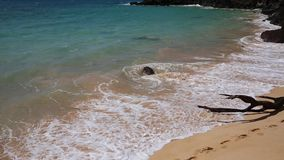 End of Big Beach. Big Beach in Makena State Par- Maui, Hawaii stock footage