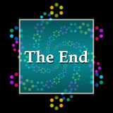 The End Black Colorful Elements Square stock illustration