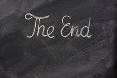 The end on blackboard Royalty Free Stock Photos