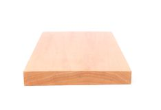 End board of elm. On white background Royalty Free Stock Photo
