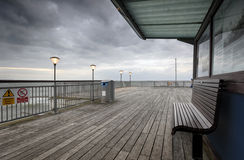 The End of the Pier. The end of Boscombe pier in Bournemouth Royalty Free Stock Image