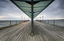 Boscombe Pier. The end of Boscombe pier in Bournemouth Royalty Free Stock Photos