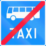 End Bus And Taxi Lane in Finland Stock Photography