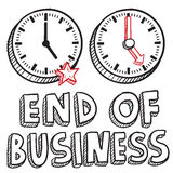 End of business 5 PM sketch Stock Photography