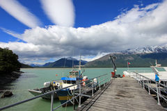 End of Carretera Austral near Villa O Higgins, Chile Royalty Free Stock Images