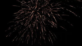 End of Celebration: Fireworks in the Sky stock footage