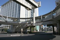 End of the Chiba Monorail at Kenchomae Monorail Station Stock Image