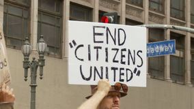 `END CITIZENS UNITED` Sign stock footage