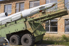 End of cold war. Abandoned soviet missiles launcher system Stock Images