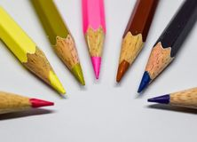The end of color pencils. stock photography