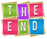 The End Colorful Blocks Royalty Free Stock Photography
