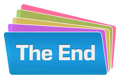 The End Colorful Squares Stack royalty free illustration