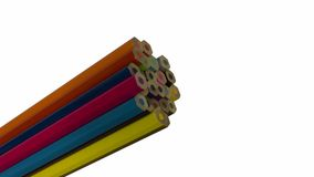 End of coloured pencils. 24 colours Royalty Free Stock Photography