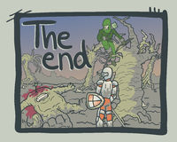 The end comic. Creative design of the end comic message Stock Image