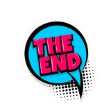 The end comic text white background Royalty Free Stock Image