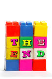 The end cubes plastic letters Royalty Free Stock Photo