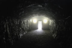 End of the dark tunnel Stock Photo