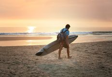 The end of day. For the surfer Stock Photos