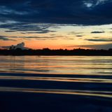 At the end of the day. Amazon River relaxing and enjoying in nature Royalty Free Stock Photography