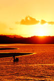 End of the day in Bahia - Brazil. Royalty Free Stock Photos