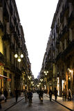 End of day in Barcelona, ​​Spain Royalty Free Stock Photography