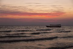 End of the day at the sea Royalty Free Stock Photos