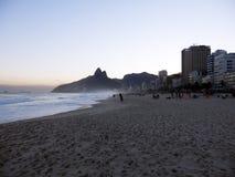Ipanema beach in Rio de Janeiro stock photography