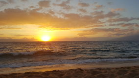 End of the day. Maui sunset on the beach Royalty Free Stock Images